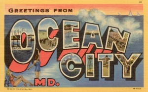 Ocean City Postcard