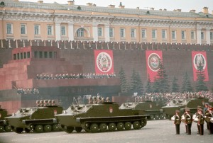 Military May Day Parade Outside the Kremlin