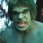Lou Ferrigno as The Incredible Hulk, 1978.
